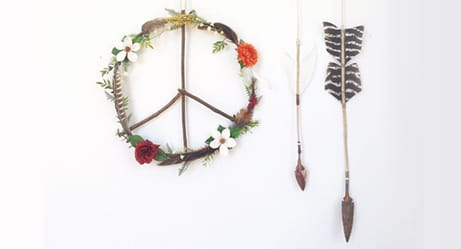 Adorable Home Decor With Peace Signs