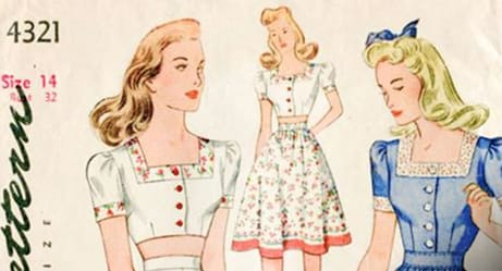 These Sewing Patterns From the 1940s Show How Different the World Used to Be