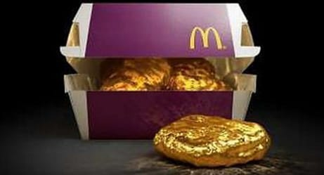 McDonald's Is Giving Away an 18-Karat Gold Chicken McNugget, Because Why Not?