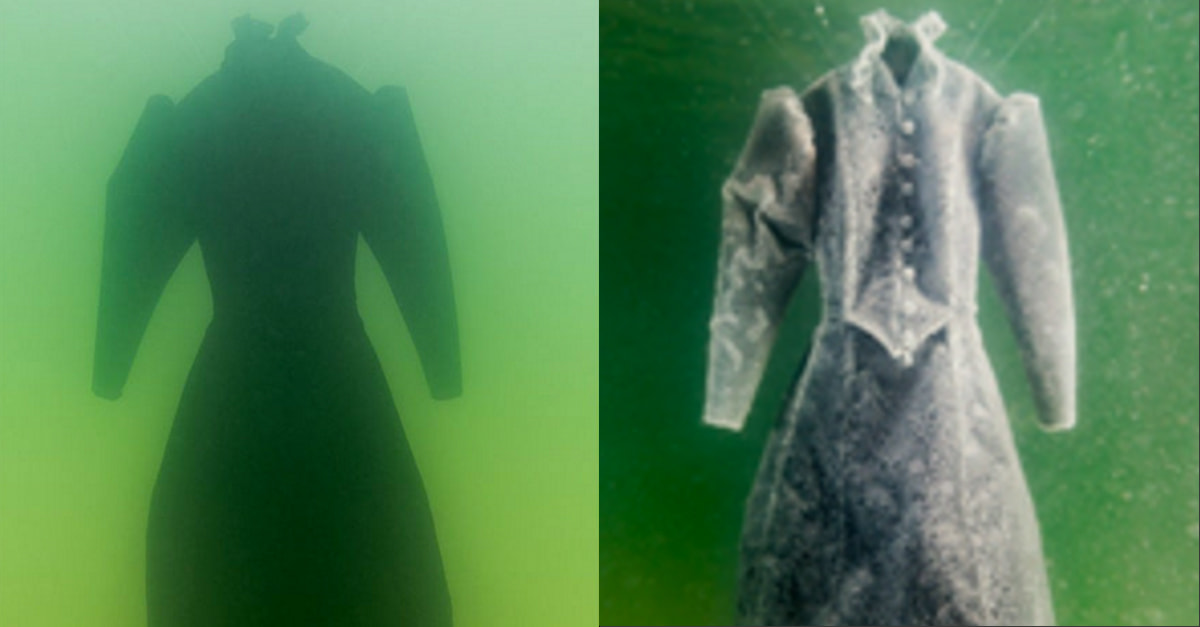 An Artist Soaked A Dress In The Dead Sea For 2 Months And Created A Beautiful Masterpiece