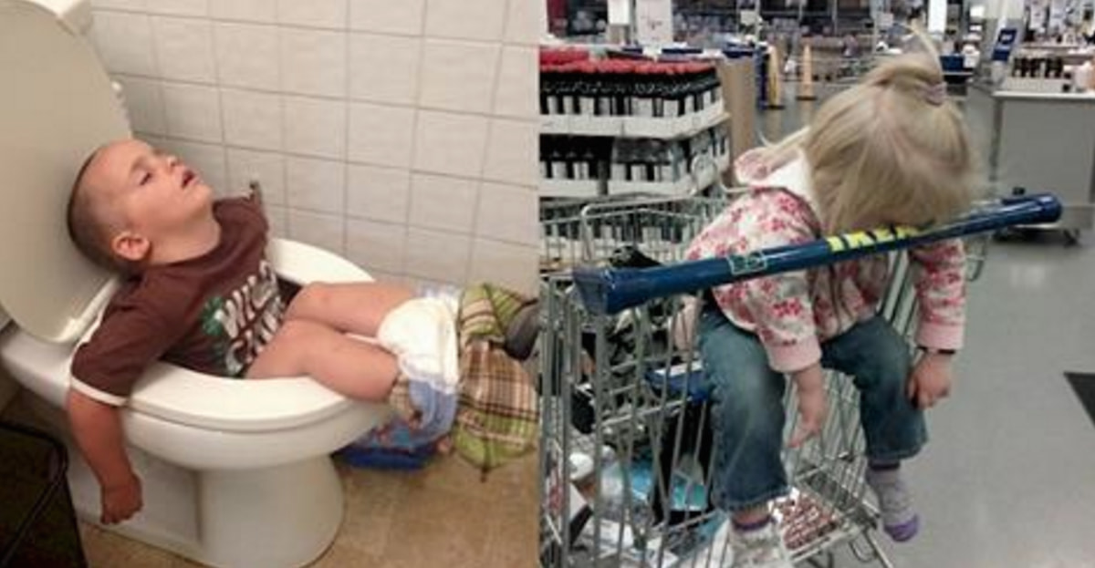 These Kids Can Literally Fall Asleep Anywhere, And We Couldn't Be More Jealous