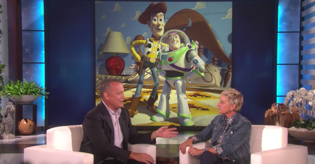 Relive Your Childhood As Ellen And Hanks Have A Conversation As Dory And Woody