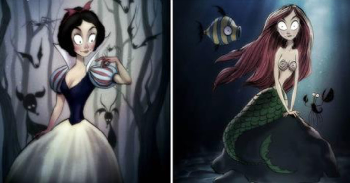 This Is What It Would Be Like If Tim Burton Directed Your Favorite Classic Disney Movies