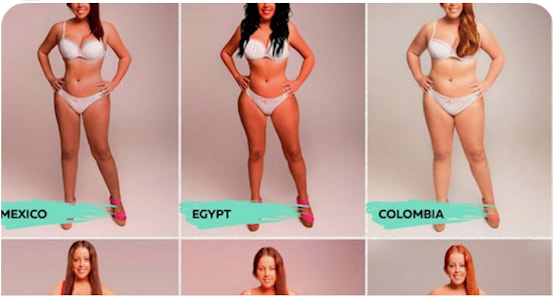 This Woman Photoshopped Her Body To Fulfill The 'Beauty' Standard In 18 Different Countries