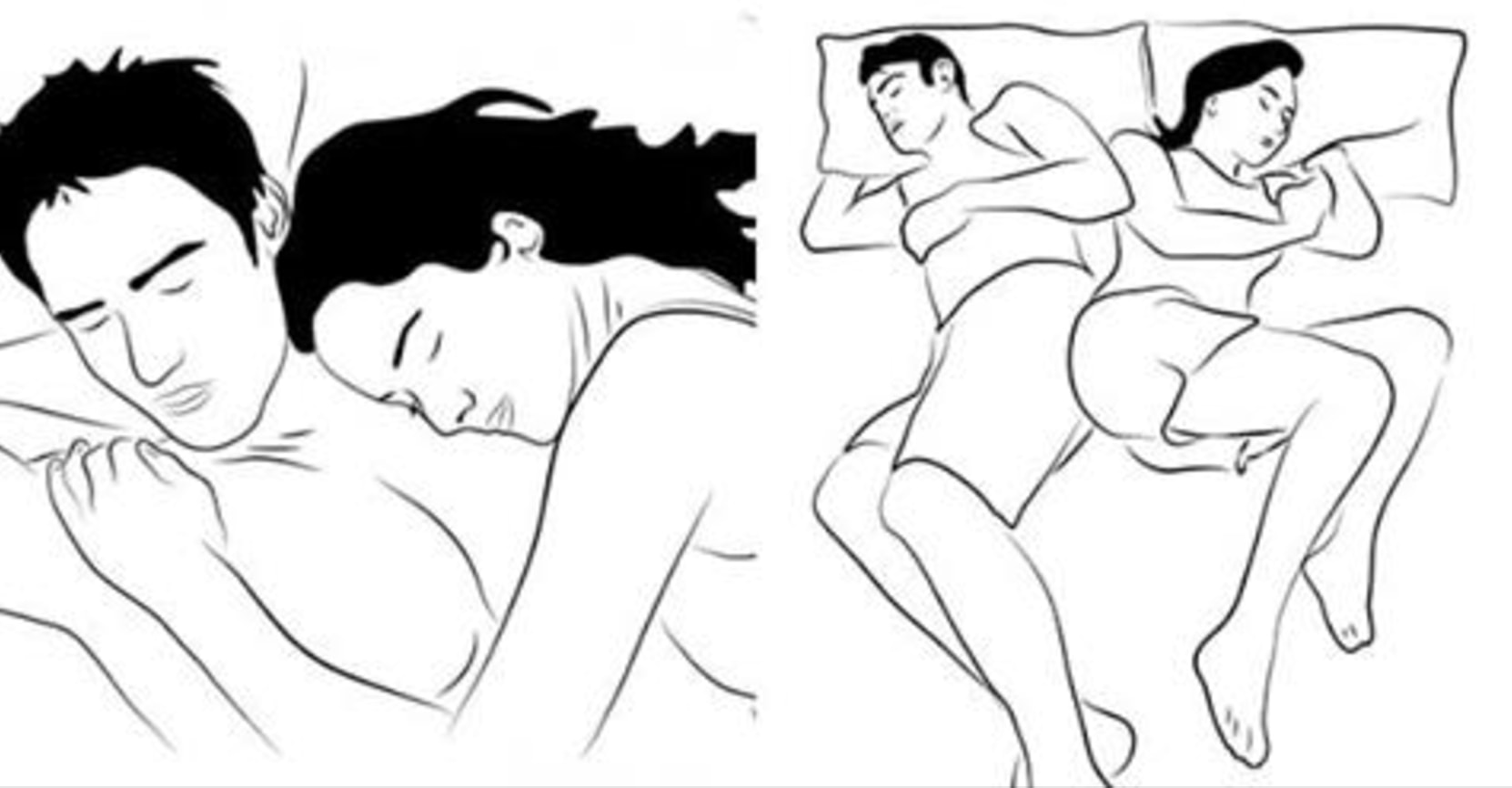 This Is What Your Sleeping Position Says About Your Love Life