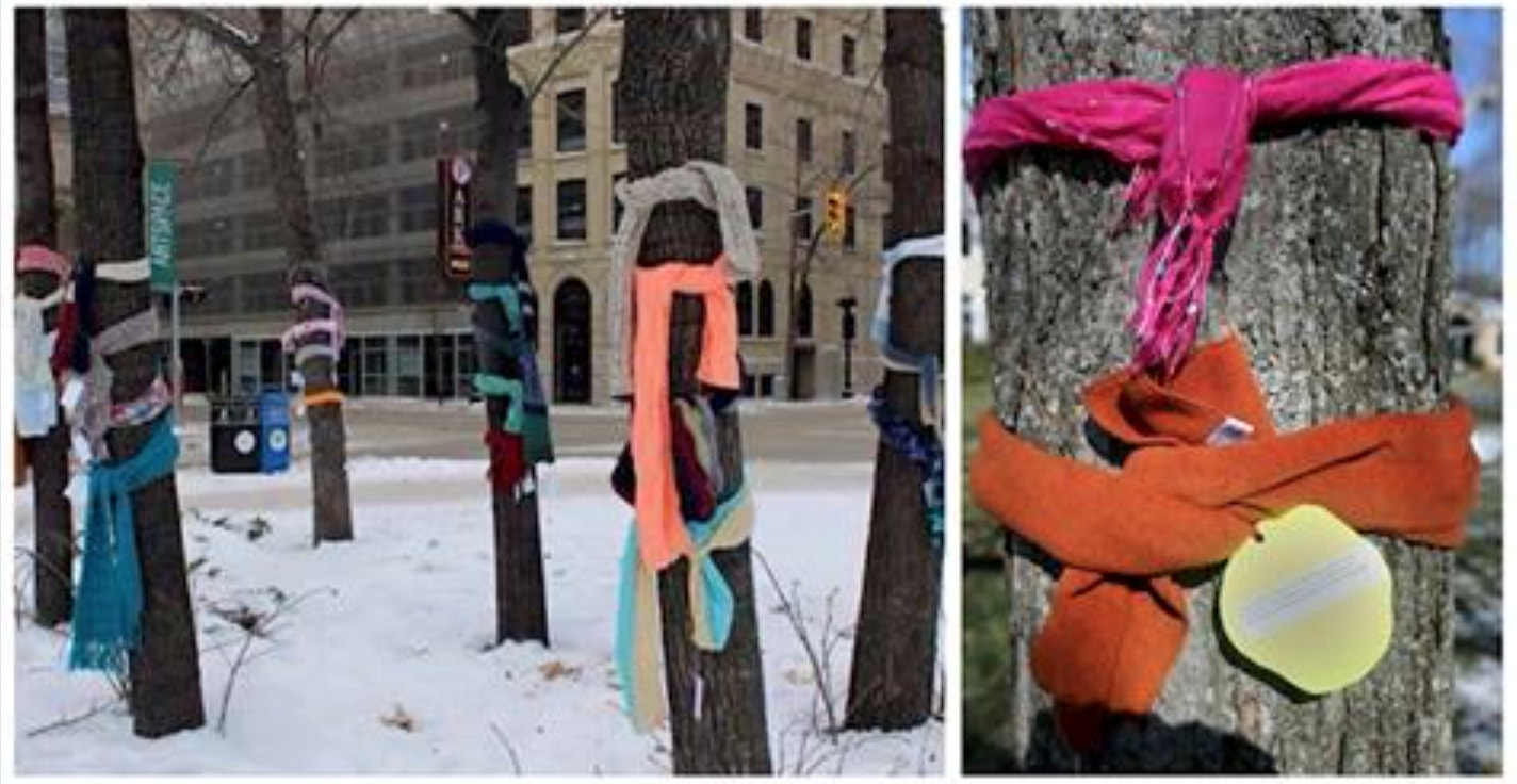 Here's Why People Are Tying Scarves Around Trees This Winter