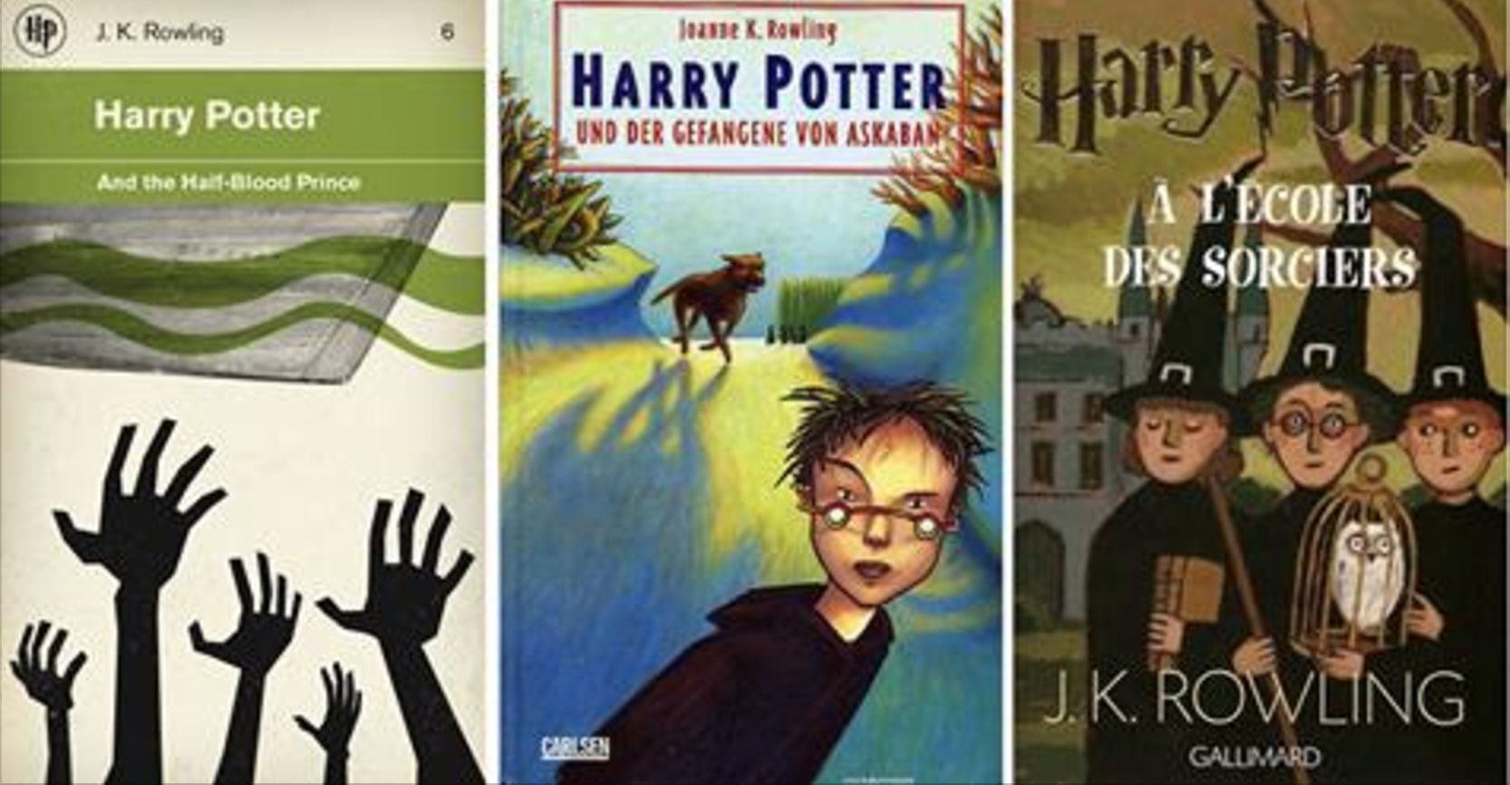 Harry Potter Book Covers Around The World : Magical harry potter book covers from around the