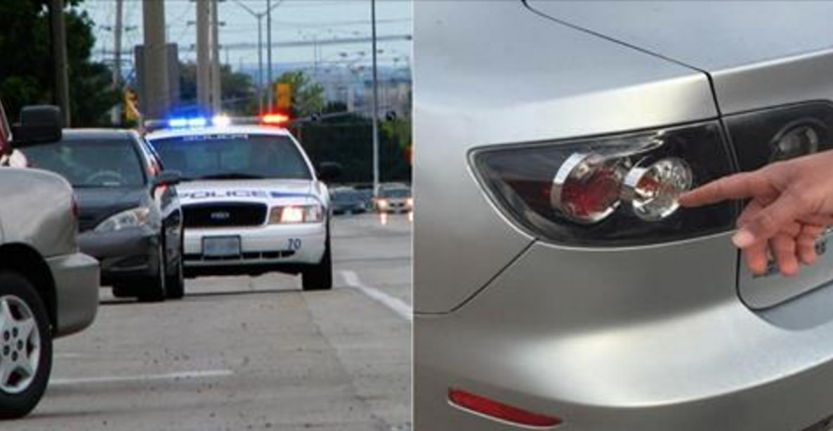 The Real Reason Cops Always Touch Your Car's Taillight When Pulling You Over