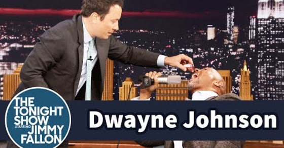 Watch the Rock Eat Candy for the First Time Since 1989