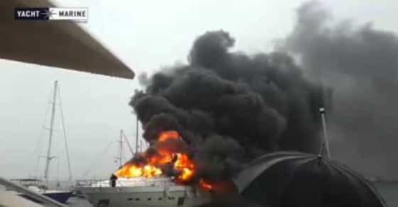 Russian Businessman's $6 Million Super Yacht Bursts into flames!