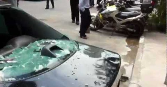 Wife Trashes Husband's Car After Finding Out He's Been Cheating