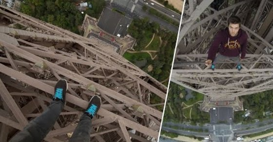VIDEO: Guy Climbs Eiffel Tower and You Can Watch From His POV!