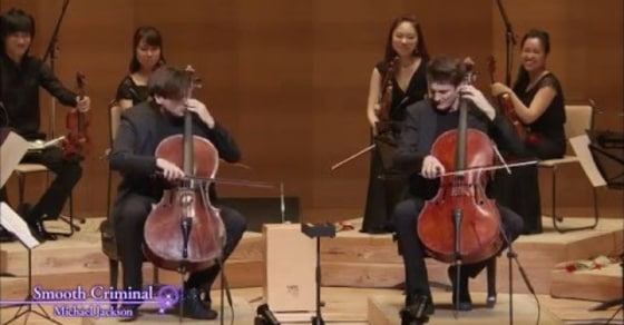 Watch 2 Cellos Stunning Live Performance Of 'Smooth Criminal'