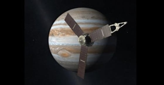 NASA's Juno Spacecraft Reaches Jupiter After Traveling 1.8 Billion Miles over Five Years
