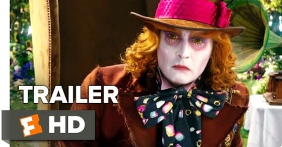 Alice in Wonderland: Through the Looking Glass - Official Trailer (2016) Johnny Depp