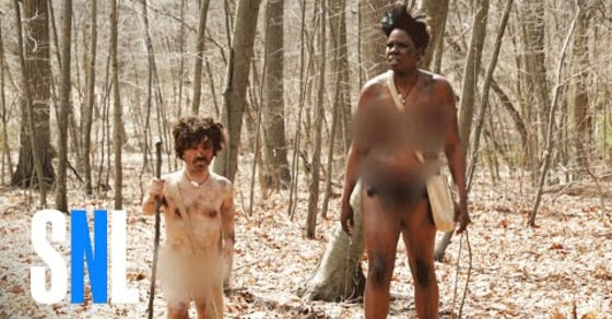 """Watch SNL's Hilarious """"Naked and Afraid: Celebrity Edition"""" Parody"""