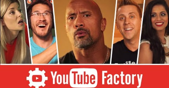 """Dwayne """"The Rock"""" Johnson Visits the Mysterious """"YouTube Factory"""""""