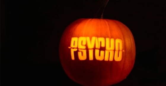 "Alfred Hitchcock's ""Psycho"" Is Even Creepier in Pumpkin Form"
