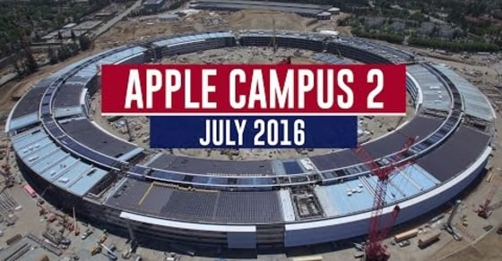 Stunning Drone Footage Shows Apple Campus 2 Nearing Completion