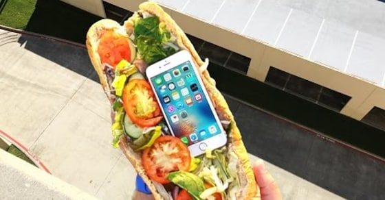 Can Subway Sandwich Protect iPhone 6s from Extreme 100 FT Drop Test?