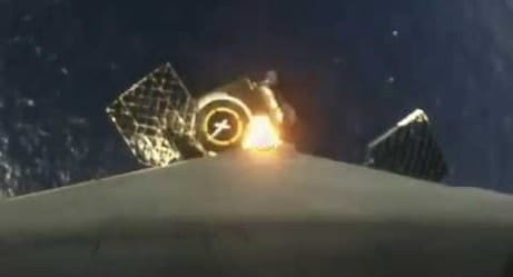 SpaceX: Falcon 9's On-Board Cam Captures Historic Barge Landing