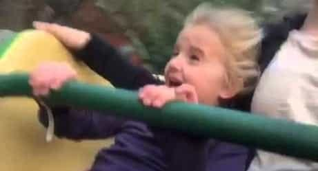 Little Girl Has The Cutest Reaction On First Roller Coaster Ride