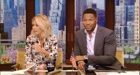 Lol: Kelly Ripa Awkwardly Brings Up Michael Strahan's Divorces During 'Live!'