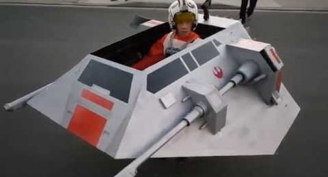 Video: Parents Turned Son's Wheelchair Into a 'Star Wars' Snowspeeder for Halloween