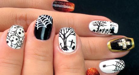 Fierce Halloween Nail Art