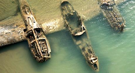 What Do These World War II Airplane Wrecks Look Like 70 Years Later?