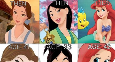 These Fascinating Photos Show What It Would Look Like If Disney Princesses Aged With Their Movies
