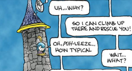 This Cartoonist Totally Destroyed A Sexist Trope With His Modern-Day Fairy Tale