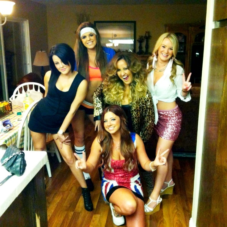5 spice girls - 5 Girl Halloween Costumes