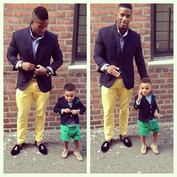 Adorable Matching Father Son Outfits Rainy Day Kelly Rowland