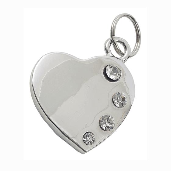 best bling dog accessories chrome polished designer dog tag