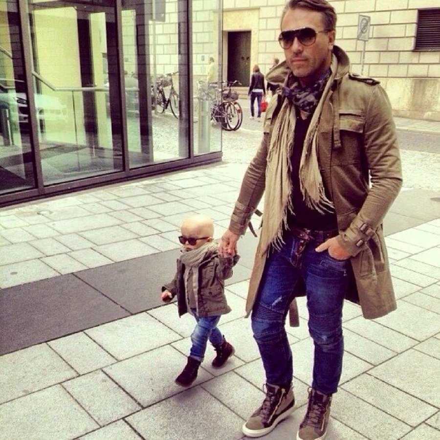 adorable matching father / son outfits - rainy day | kelly rowland