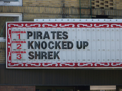 Movie Marquees That Got Someone Fired - Pirates of the Carribean