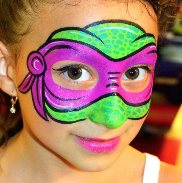 Paint Ninja Turtle Face Paint