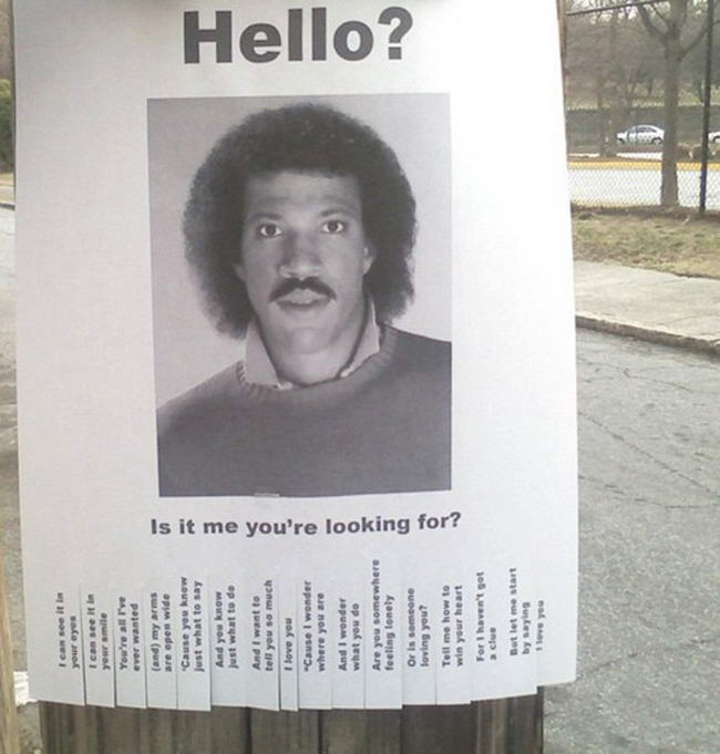 Tear the Funny Off of These PullTab Flyers My Lionel Richie – Tear off Tab Flyer