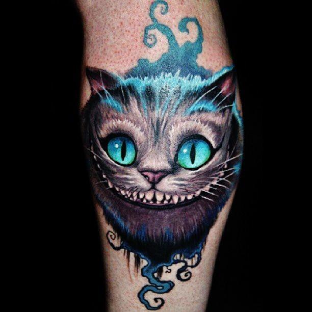 Тату чеширский кот эскизы