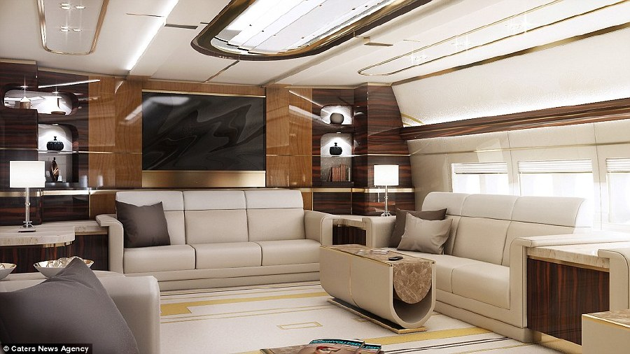 This Billionaire Spent $627M to Turn a Boeing 747 Into a Flying Mansion