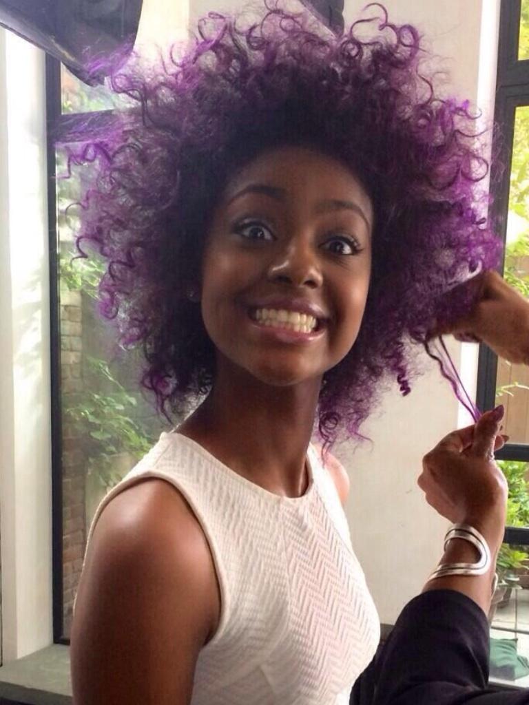 Amazing Dye Jobs For African American Hair  Purple Rain  Kelly Rowland