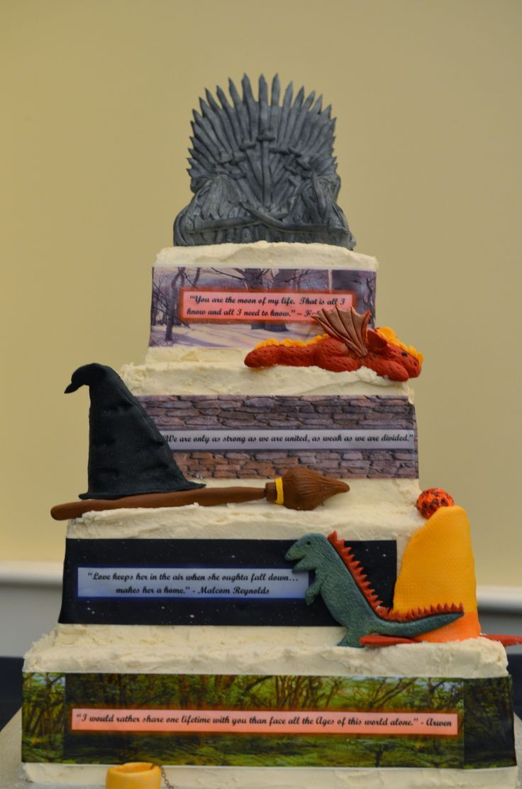 15 Incredibly Nerdy Wedding Cakes