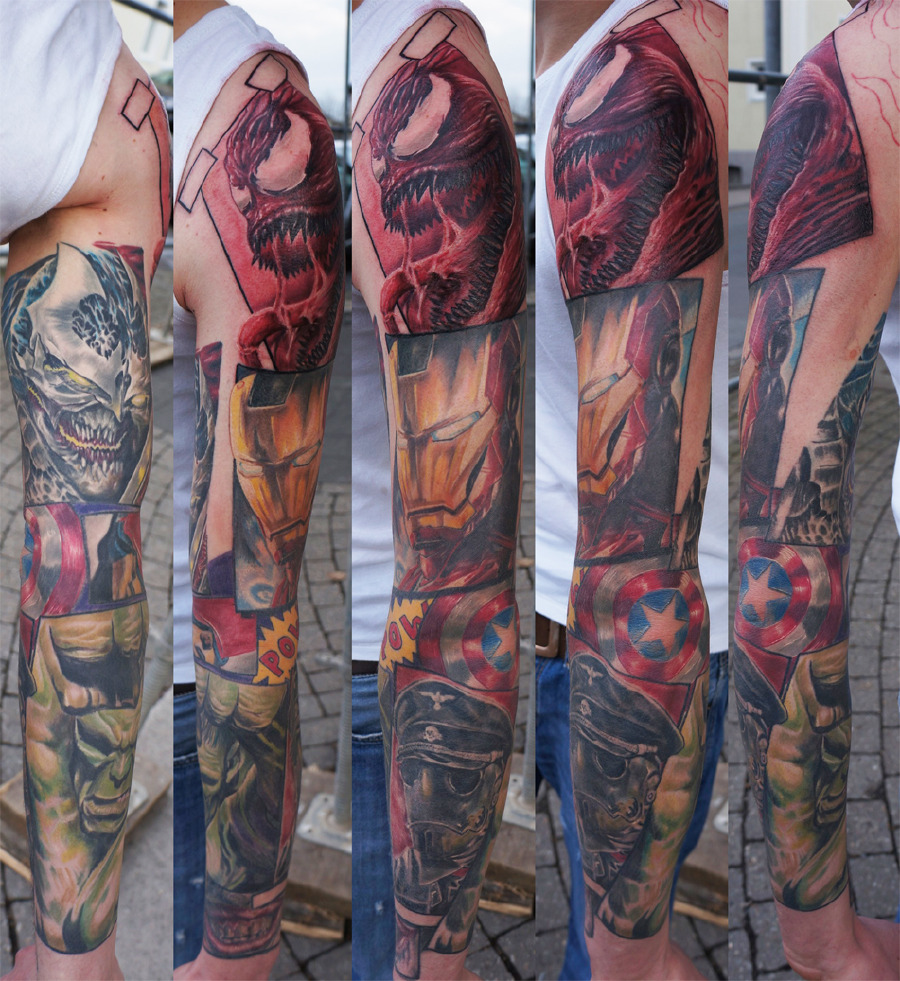 18 awesome comic book tattoo super friends super tat guff. Black Bedroom Furniture Sets. Home Design Ideas