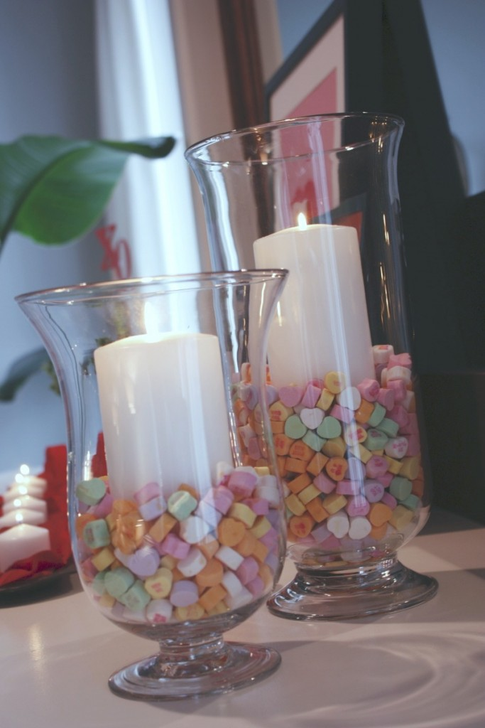 20 diy decorations for valentine 39 s day geometric heart for Creative things to put in vases