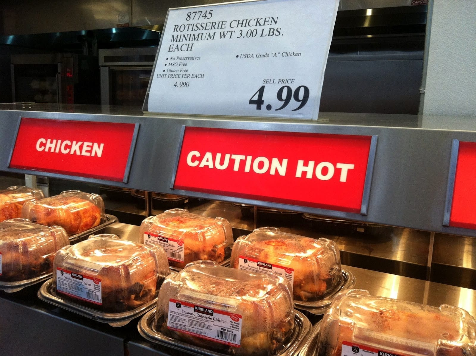costco loses money on their cheap rotisserie chicken - Costco