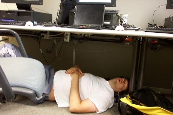 you had one job  falling asleep at work edition