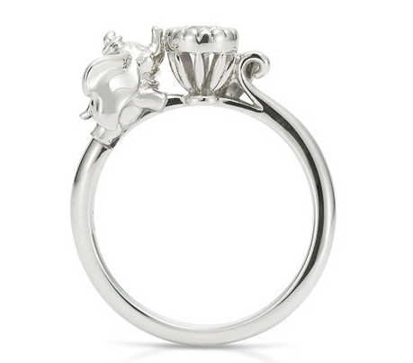 The Little Mermaid Engagement Ring RingsCladdagh
