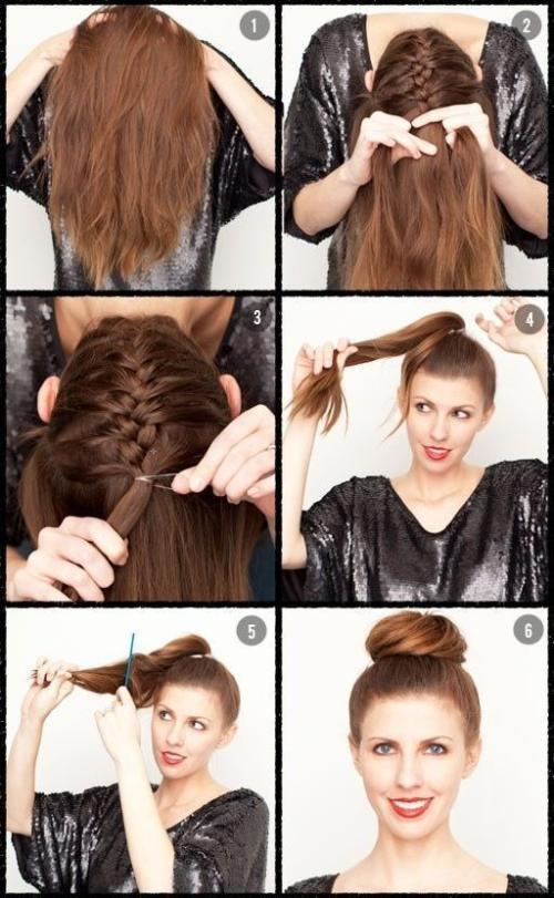 Stupendous Awesome Do It Yourself Hairstyles Braided Bun Guff Hairstyle Inspiration Daily Dogsangcom