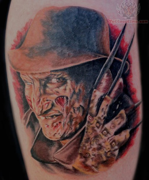 Horror Movie Tattoos Tattoos: These Horror Movie Tattoos Are Scary Awesome - Freddy